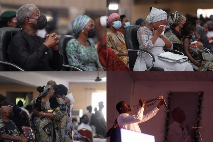 Osinbajo, wife, others attend service of songs for late Dare Adeboye. Photos: Efunla Ayodele