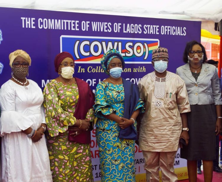 Dr. Ibijoke Sanwo-Olu and top government officials at the event