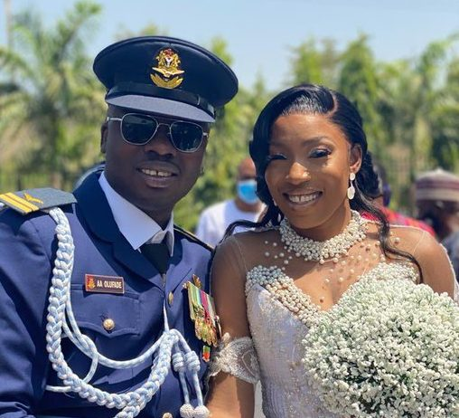 Flt. Lt Alfred Olufade and his wife