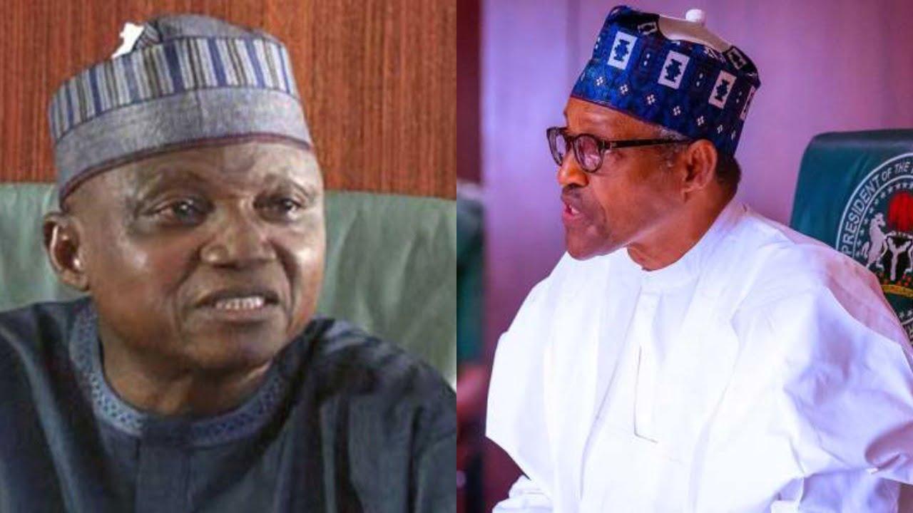 Garba Shehu and Muhammadu Buhari