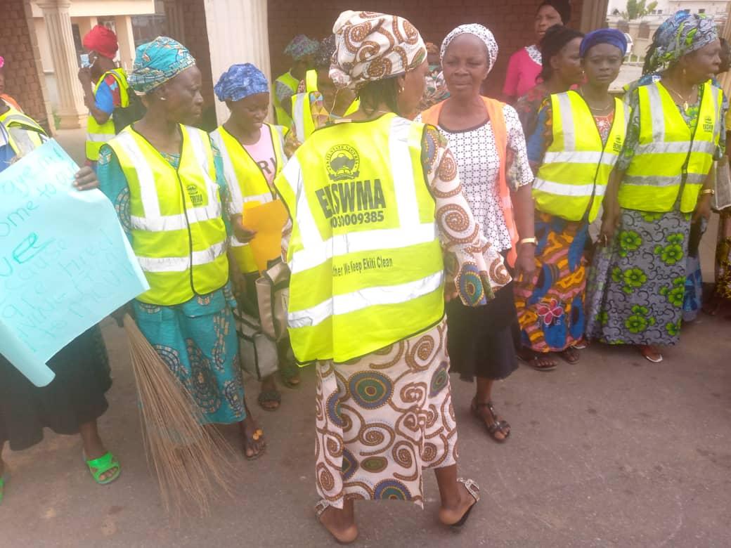 Ekiti street sweepers protest