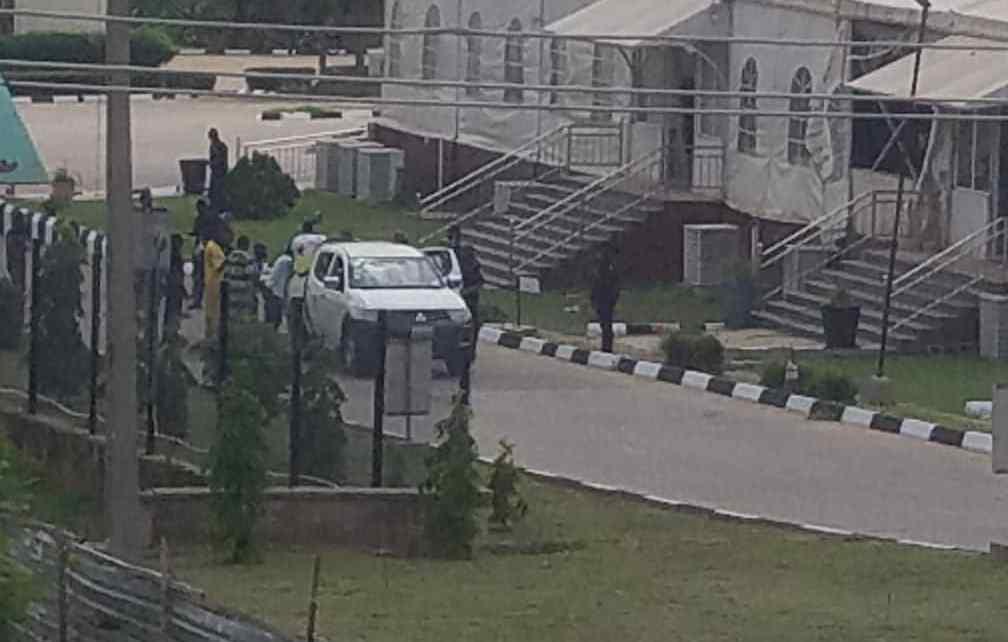 FILE PHOTO: explosion rocks the Olusegun Obasanjo Presidential Library (OOPL), Abeokuta, Ogun State.