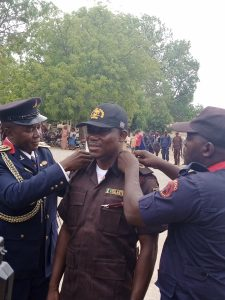 Mr Ubandoma Laven, the Chairman of Langtang North LGA, Plateau , during his decoration as State's Patron of Vigilante Group of Nigeria (VGN) on Saturday.