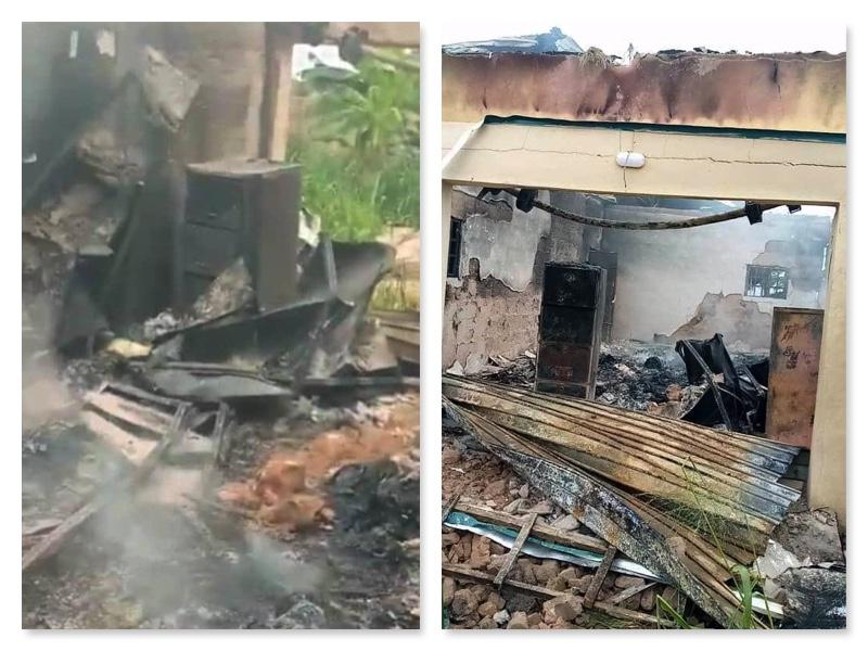 INEC office burnt in Ohafia Abia state