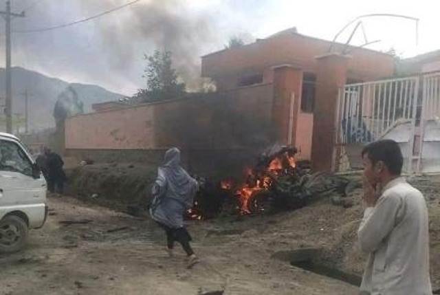 One of the bomb blasts at Kabul school on Saturday