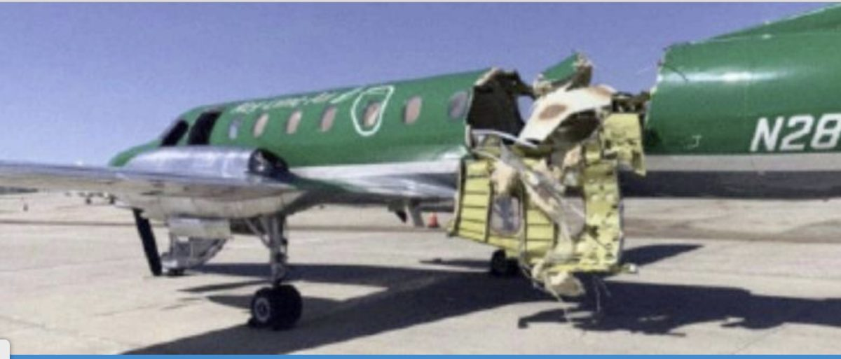 One of the planes involved in the mid-air collision at Denver airport