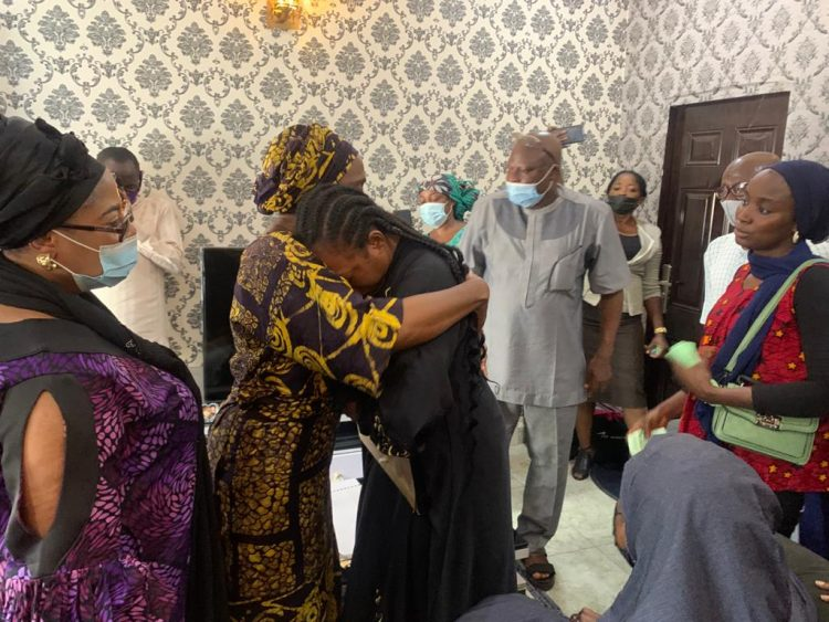 Tears, emotions as Osinbajo's wife visits Attahiru's family, others