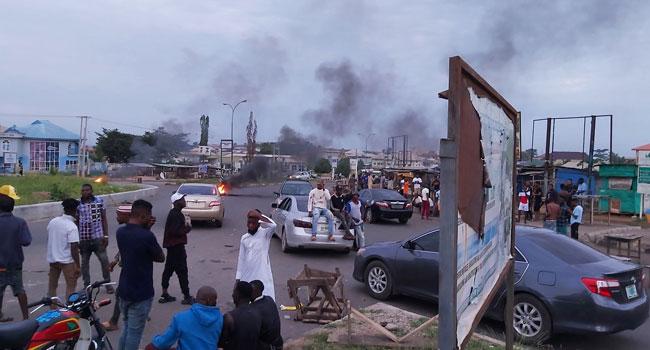 FILE PHOTO: Tension as Osogbo youths protest EFCC raid.
