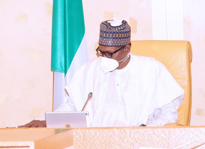 President Muhammadu Buhari Presides over a virtual FEC Meeting held at the State House Abuja. PHOTO; SUNDAY AGHAEZE. MAY 5TH 2021