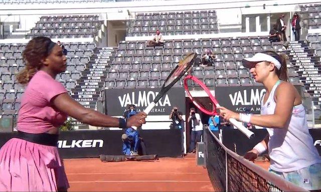 Serena Williams and Podoroska