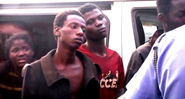 Some of the students of Forestry College Afaka Kaduna released today. Photo Channels TV