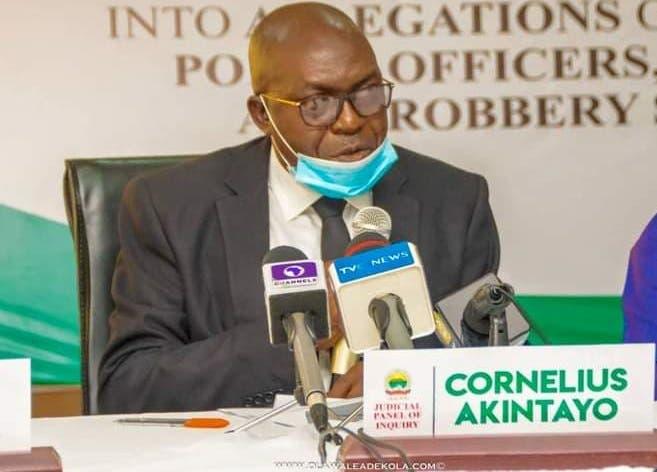 Justice Cornelius Akintayo, Chairman,  Ekiti #EndSARS Panel of Inquiry