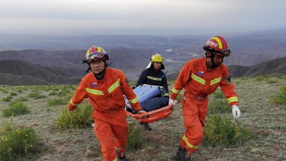 rescue workers during the Chinese ultramarathon