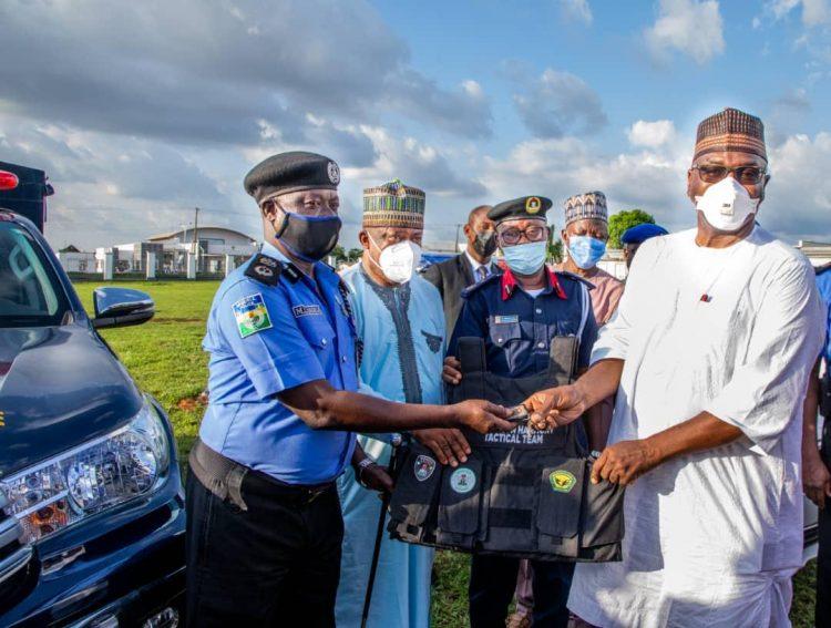 AbdulRazaq donates patrol vehicles, bulletproof vests to security agencies