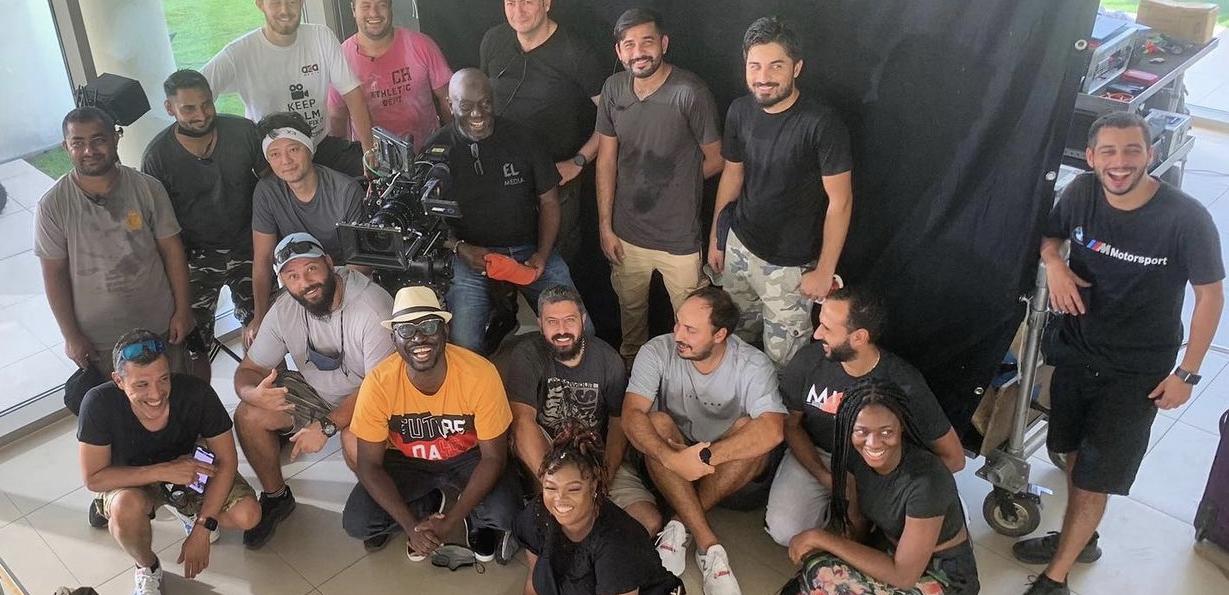 Niyi Akinmolayan and crew of Chief Daddy 2