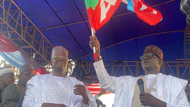 Bello Matawalle and Governor Mai Mala Buni, APC caretaker chairman