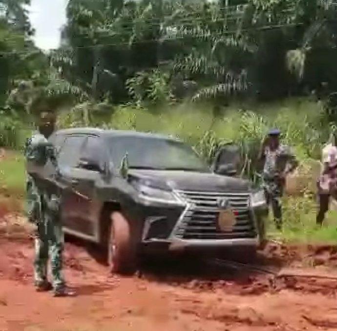 Tension, as Obaseki's SUV gets stuck in mud