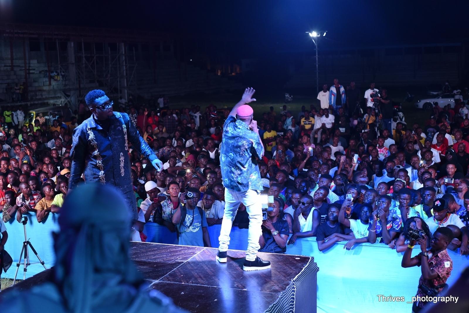 Ruger performing at Jumabee Inspires Concert 2021 held in Lokoja, Kogi State