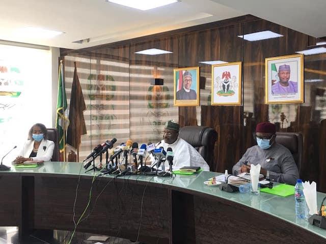 INEC chairman Yakubu announcing dates for Osun and Ekiti elections
