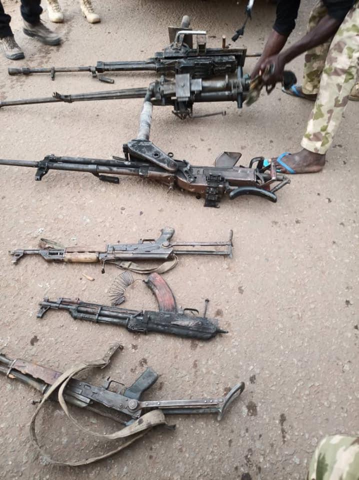 ISWAP, Boko Haram weapons seized by Nigerian troops