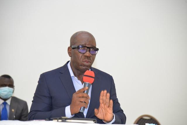 Obaseki mocks Oshiomhole, Ize-Iyamu