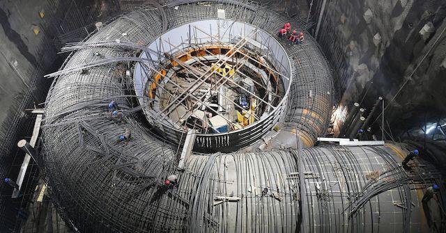 The giant Baihetan-dam under construction in 2019
