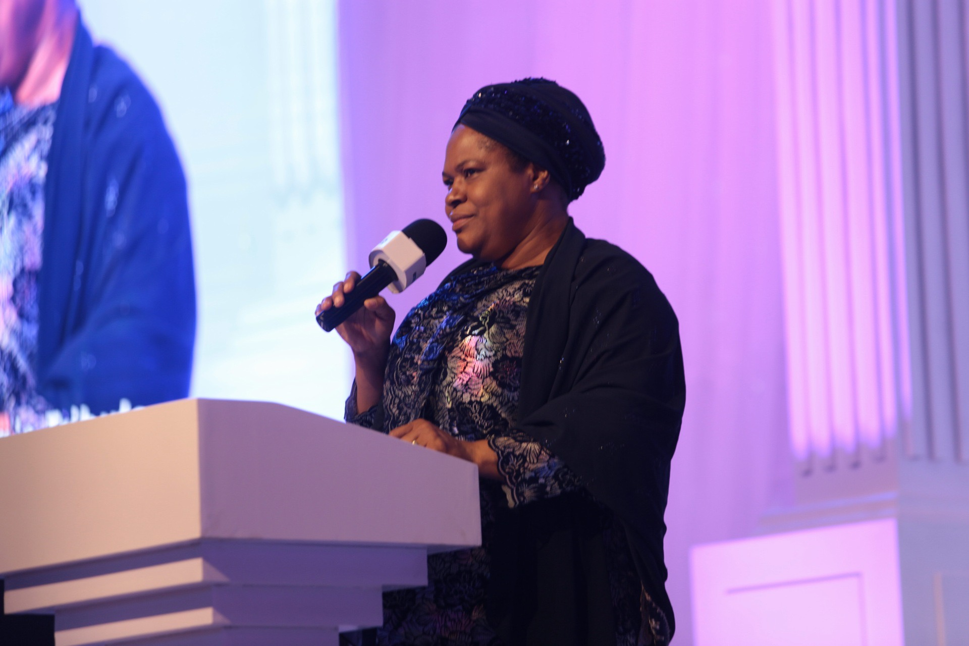 Evelyn Joshua, Late TB Joshua's wife delivering emotional tribute at All Day Service Tribute at Synagogue Church of All Nations