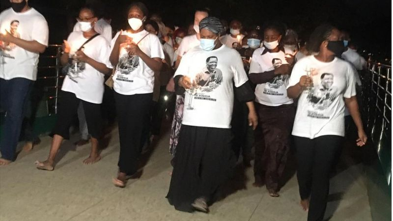 Evelyn Joshua leads candlelight procession for TB Joshua