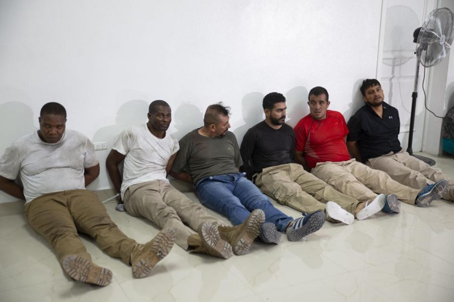James Solages, left, Joseph Vincent and the other suspects