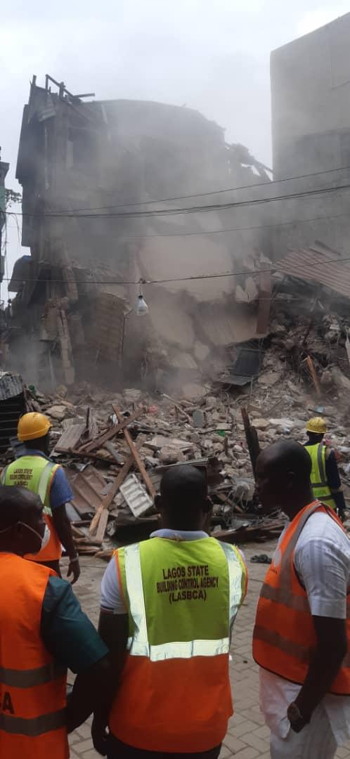Lagos demolishes a house at 19 Church street Lagos Island