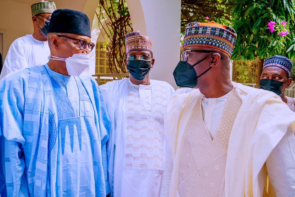 APC governors pay Sallah homage to Buhari in Daura