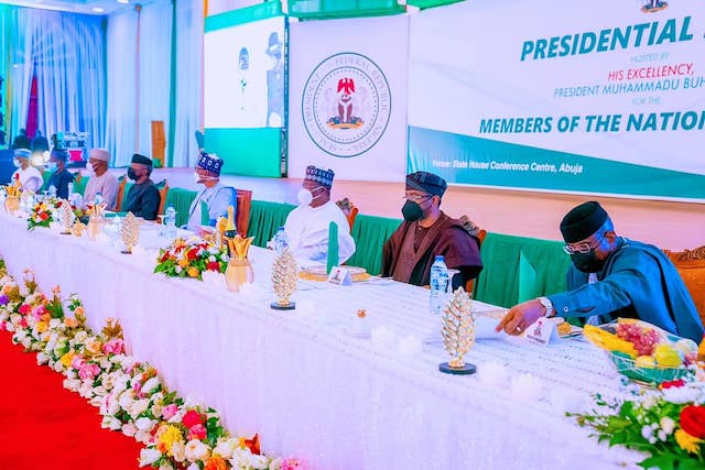 Buhari, VP Osinbajo with Lawan, Gbajabiamila