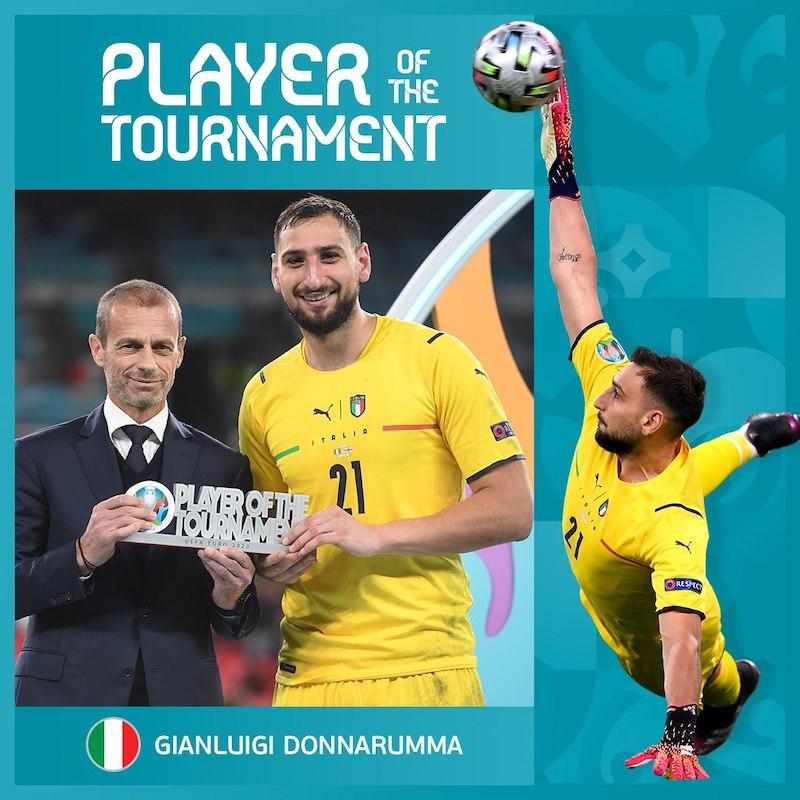 Donnarumma wins player of the Euro 2020 tournament