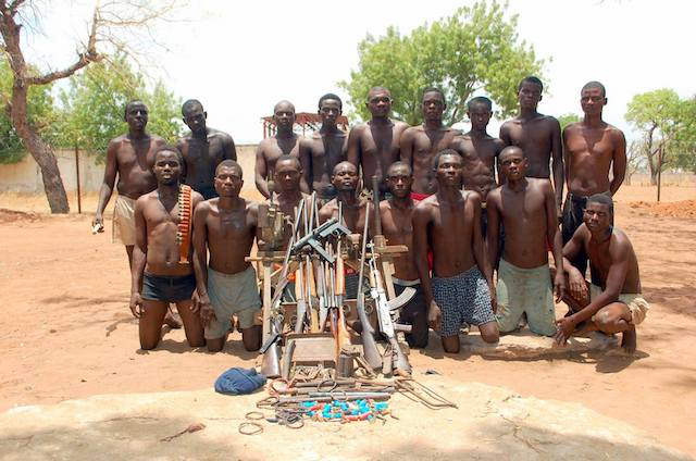 File: Some Boko Haram fighters who surrendered in the past