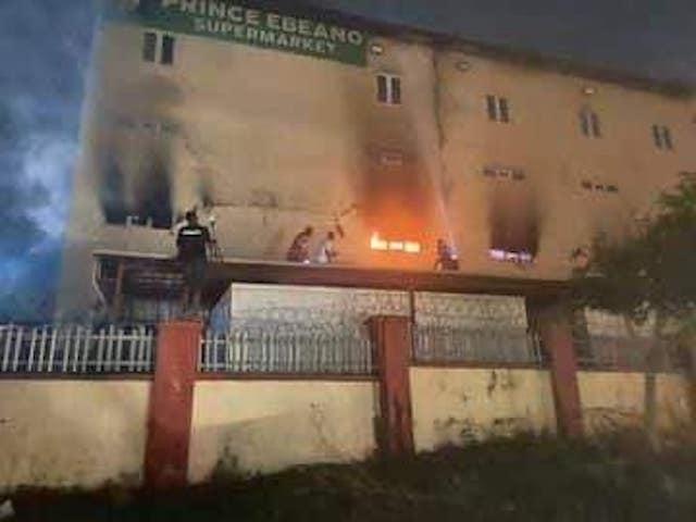 Fire at Ebeano Supermarket Lokogoma Abuja
