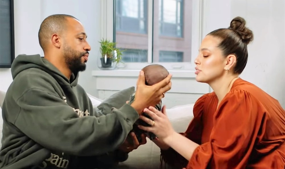 Justin Ervin, Ashley Graham and their son Isaac