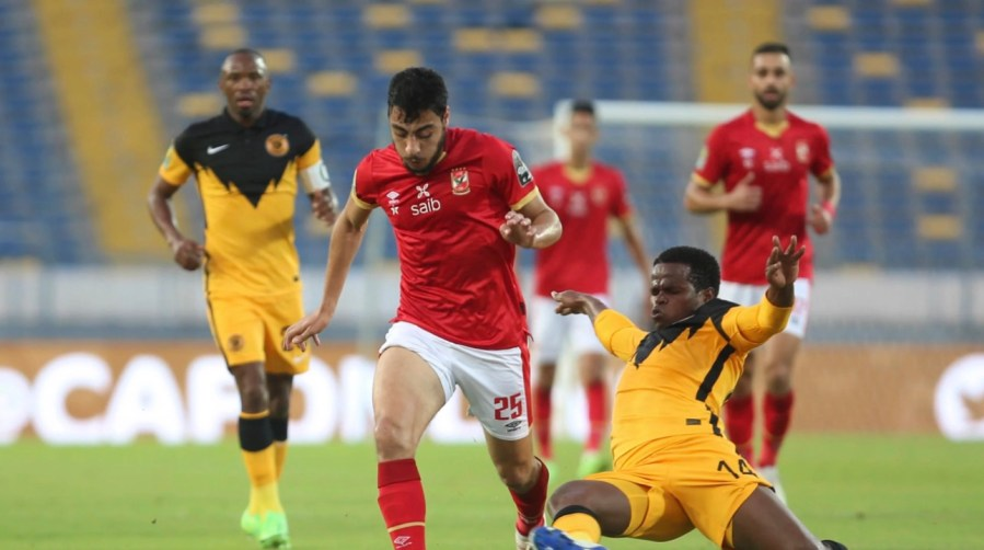 Kaiser chiefs( yellow and black jersey) could not stop Al Ahly in the second half