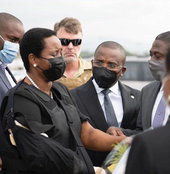 Martine Moise returns to Haiti to bury her husband Jovenel Moise