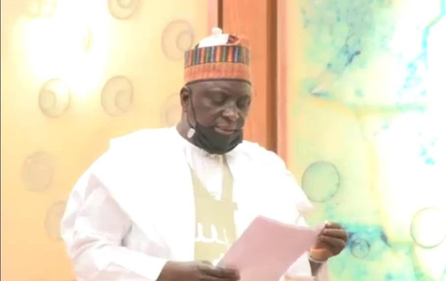 Senator Ibrahim Yahya Oloriegbe presents the bill for Emergency Medical Services Agency