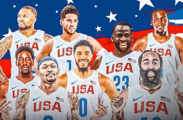 USA Basketball team to the Olympics