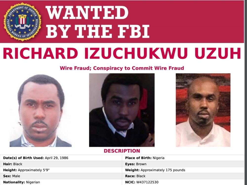 Olorunyomi, Uzuh, 4 other Nigerians enter FBI's most wanted list