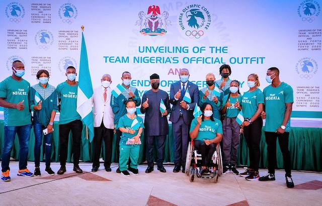 Vice President Yemi Osinbajo unveils Team Nigeria's 2020 Tokyo  Olympic Kit and attends the send forth ceremony for the athlete