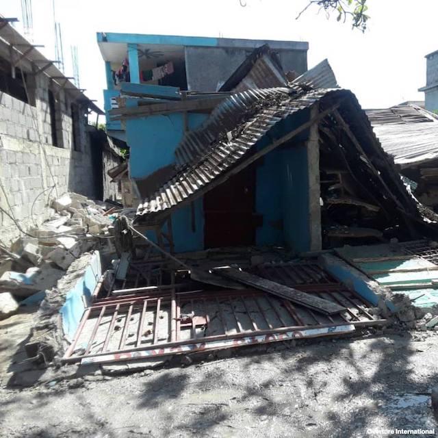 Knocked down by quake in Haiti