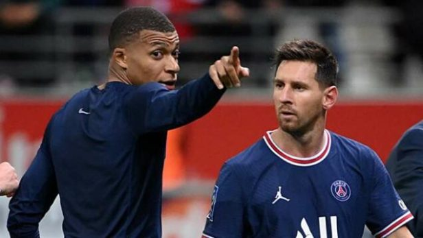 Kylian Mbappe and Messi