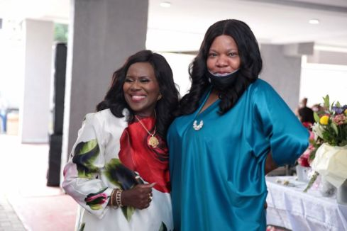 Actress Toyin Abraham with the celebrant