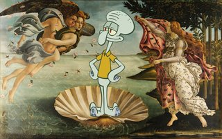 Amusing Images Of Cartoon Characters In Photoshopped Into Renaissance Paintings image 6