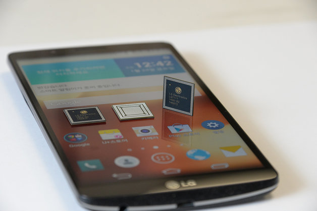 LG G4 with CPU