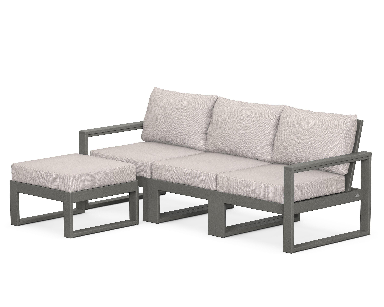 edge 4 piece modular deep seating set with ottoman