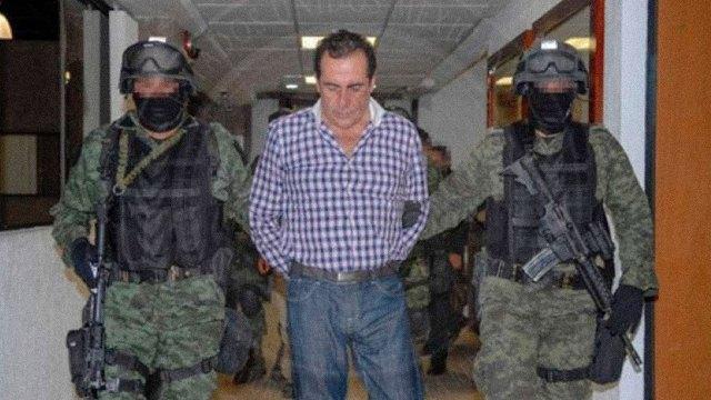 Héctor Beltrán Leyva detenido en San Miguel de Allende en 2014. Foto distribuida en medios por la PGR.