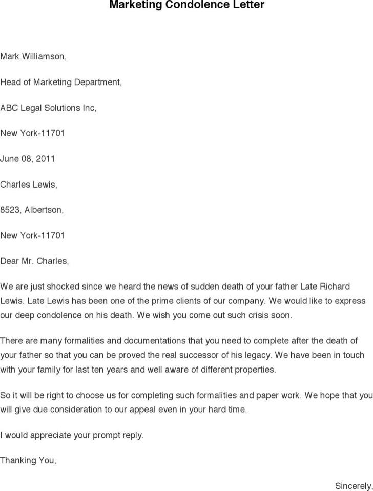 ... Condolence Letter Sample Cvletter Billybullock Us 2 Nov 17 21 7 U2013  Example Of A Condolence ...